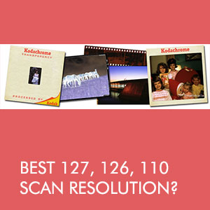 Best resolution when scanning different size slides and negatives