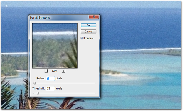 Fix negative scan grain using Photoshop