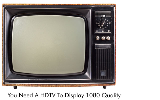 You can't display full hd quality on old standard definition tvs